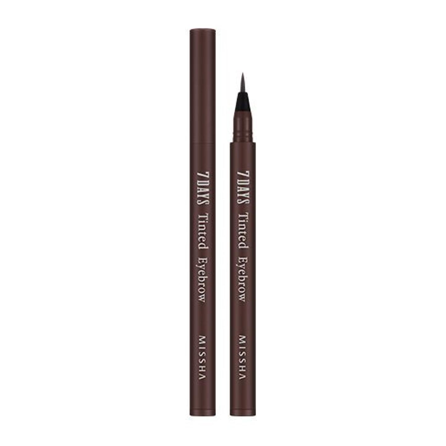 サラダ受信寛大なMISSHA Seven Days Tinted Eye Brow 0.8ml (#01 Maroon Brown)/ミシャ セブンデイズ ティンテッド アイブロウ 0.8ml (#01 Maroon Brown)