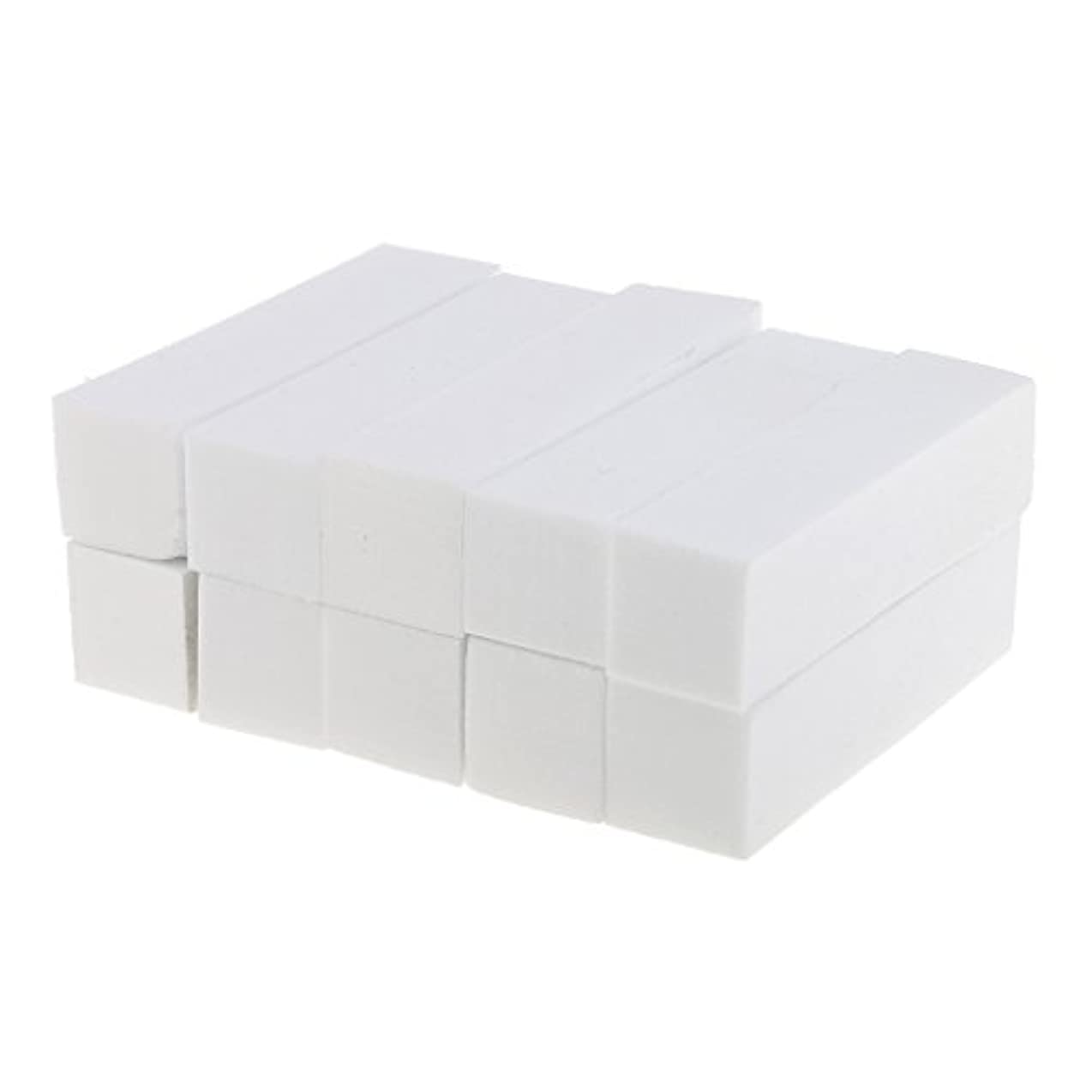 筋肉の状況元気なネイルアート マニキュア ペディキュア バッファー ファイルツール 白 10個