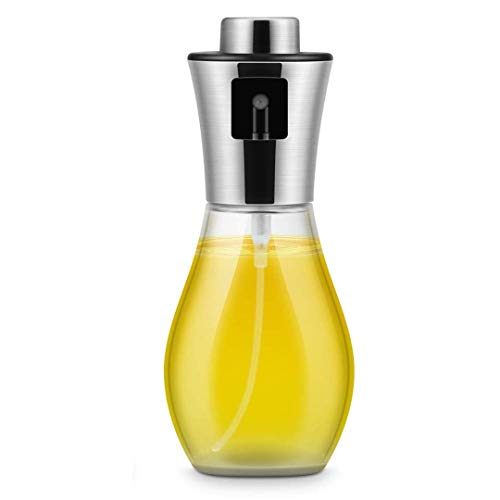 Zhiyangmaoyi オイル容器 油容器 オリーブ オイルスプレー オイル容器 200ml ガラスオイル噴霧器 霧吹き キッチンバーベキューなどに適用