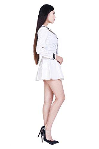 Size: male L PVC sailor dress costume white (PVC43)