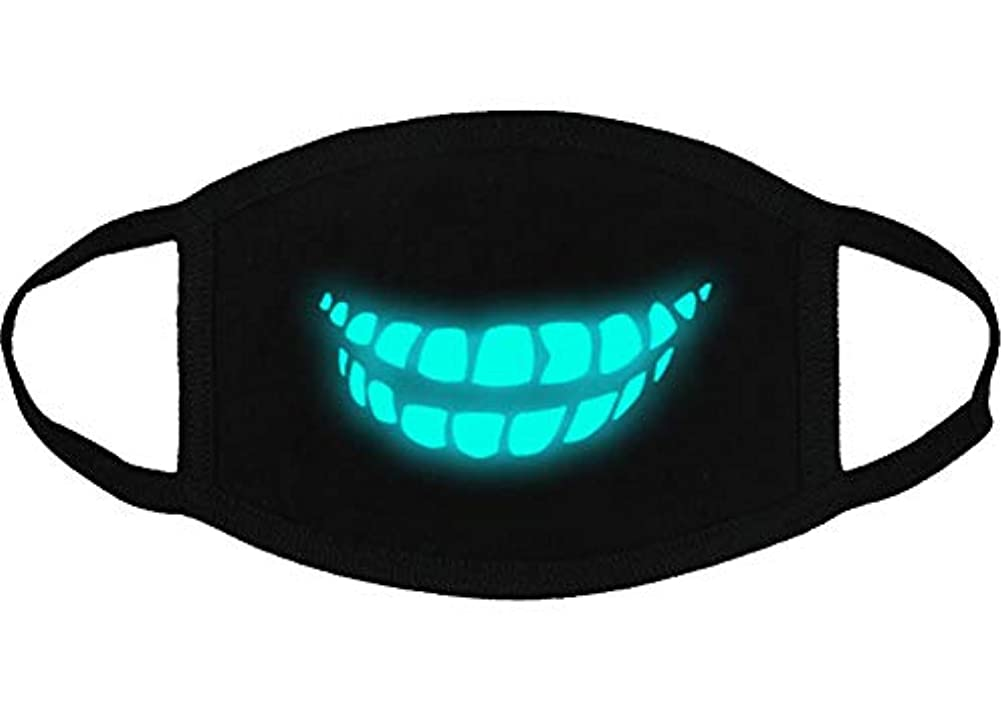電気売る妨げるクールな光沢のある歯のパターンコットンブレンドアンチダストフェイスマスク、Y3