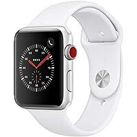 AppleWatch Series3(GPS+Cellularモデル)- 42mmシルバーアルミニウムケースとホワイトスポーツバンド