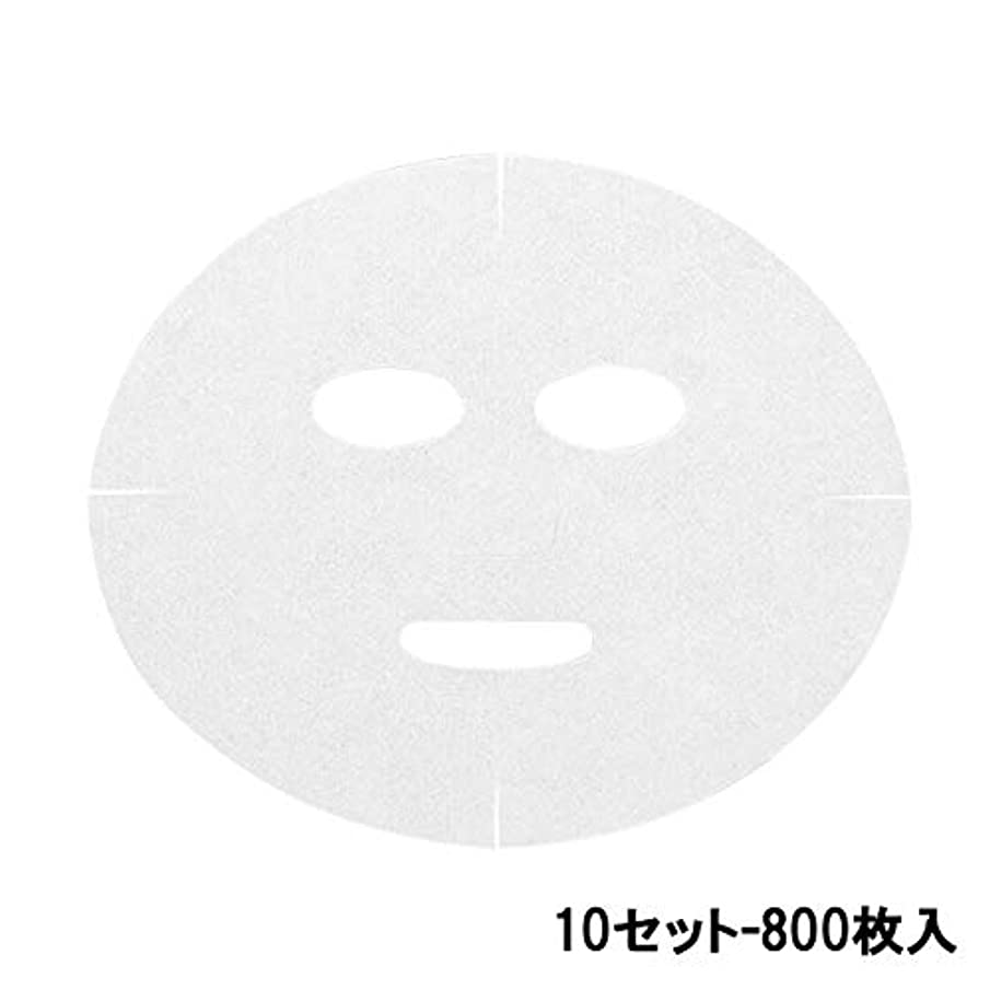 スーダン吸収介入する高保水 フェイシャルシート (マスクタイプ 化粧水無) 80枚 24×20cm (10セット-800枚入) [ フェイスマスク フェイスシート フェイスパック フェイシャルマスク シートマスク フェイシャルシート フェイシャルパック ローションマスク ローションパック ]