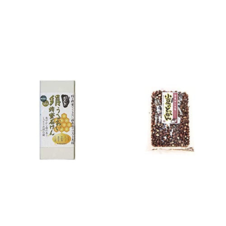 謝罪左モーター[2点セット] ひのき炭黒泉 絹うるおい蜂蜜石けん(75g×2)?小豆のとっかん(150g)