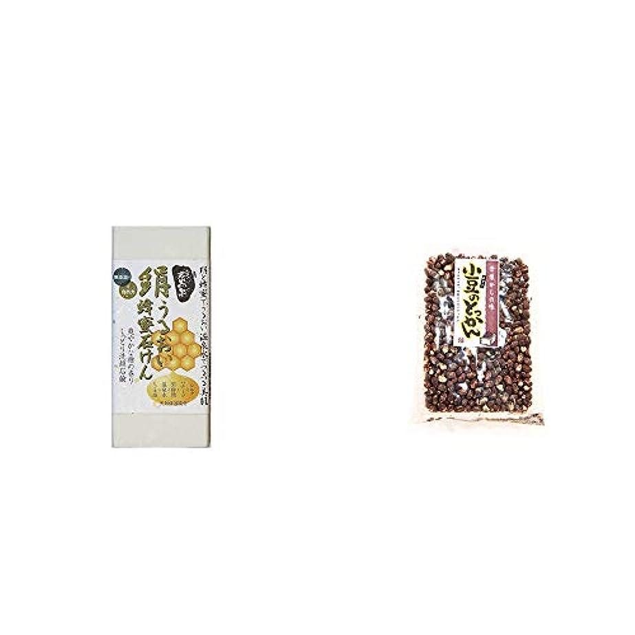 きつく爵靴[2点セット] ひのき炭黒泉 絹うるおい蜂蜜石けん(75g×2)?小豆のとっかん(150g)