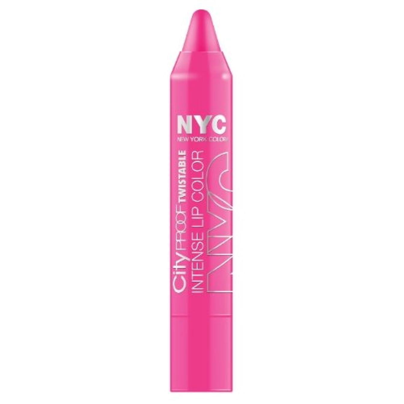 スロープ喪広告するNYC City Proof Twistable Intense Lip Color - Fulton St Fuchsia (並行輸入品)