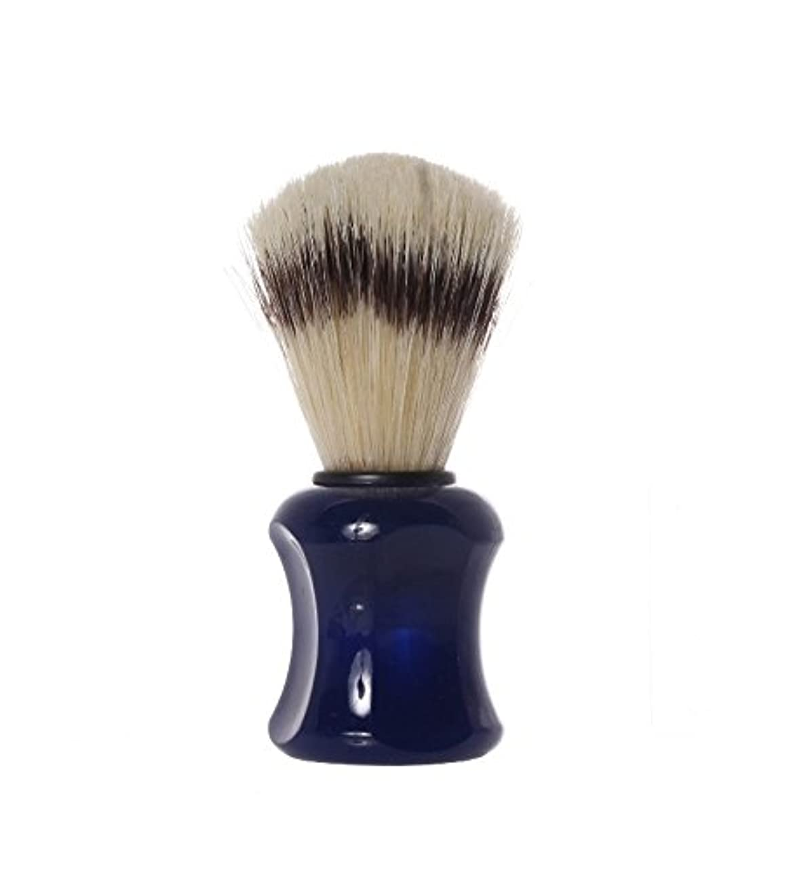 意図なくなる平らなShaving Brush with pig´s bristles, 10,0 cm, blue - Erbe Solingen