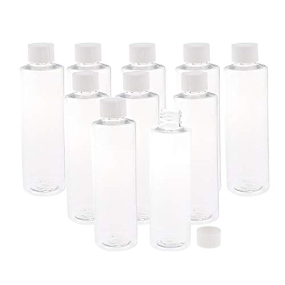 ベンチャーただやる実行可能SM SunniMix プラスチック製 透明ボトル スクリュートップ キャップ付き 空のボトル 200ミリリットル 3色選ぶ - ホワイトキャップ