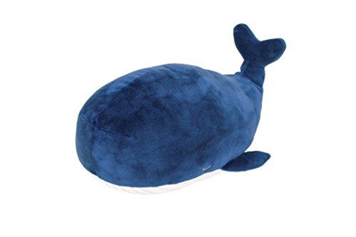 りぶはあと マシュマロアニマルボルスタークッション クジラのカナロア(15x33x13cm) 48656-63