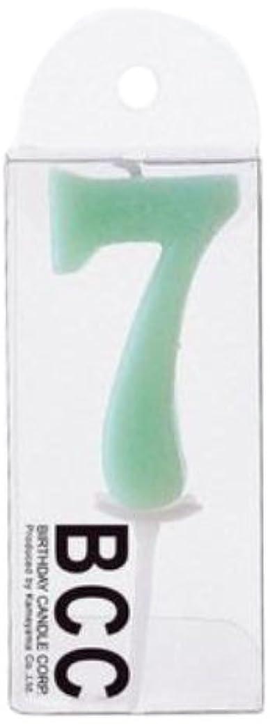 強大な輪郭突き出すナンバーキャンドルパステル7番 「 セージ 」 3個セット