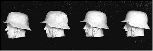 アンドレアミニチュアズ S5-A9 4 German Heads with Helmet II
