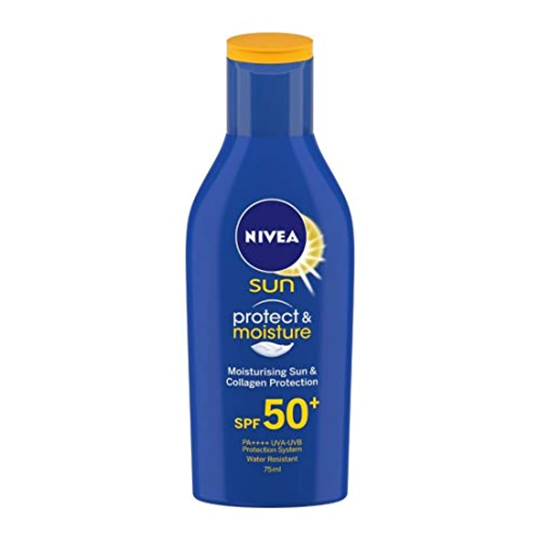 叫び声食料品店に負けるNIVEA Sunscreen Lotion, Sun Protect and Moisture (SPF 50), 75ml