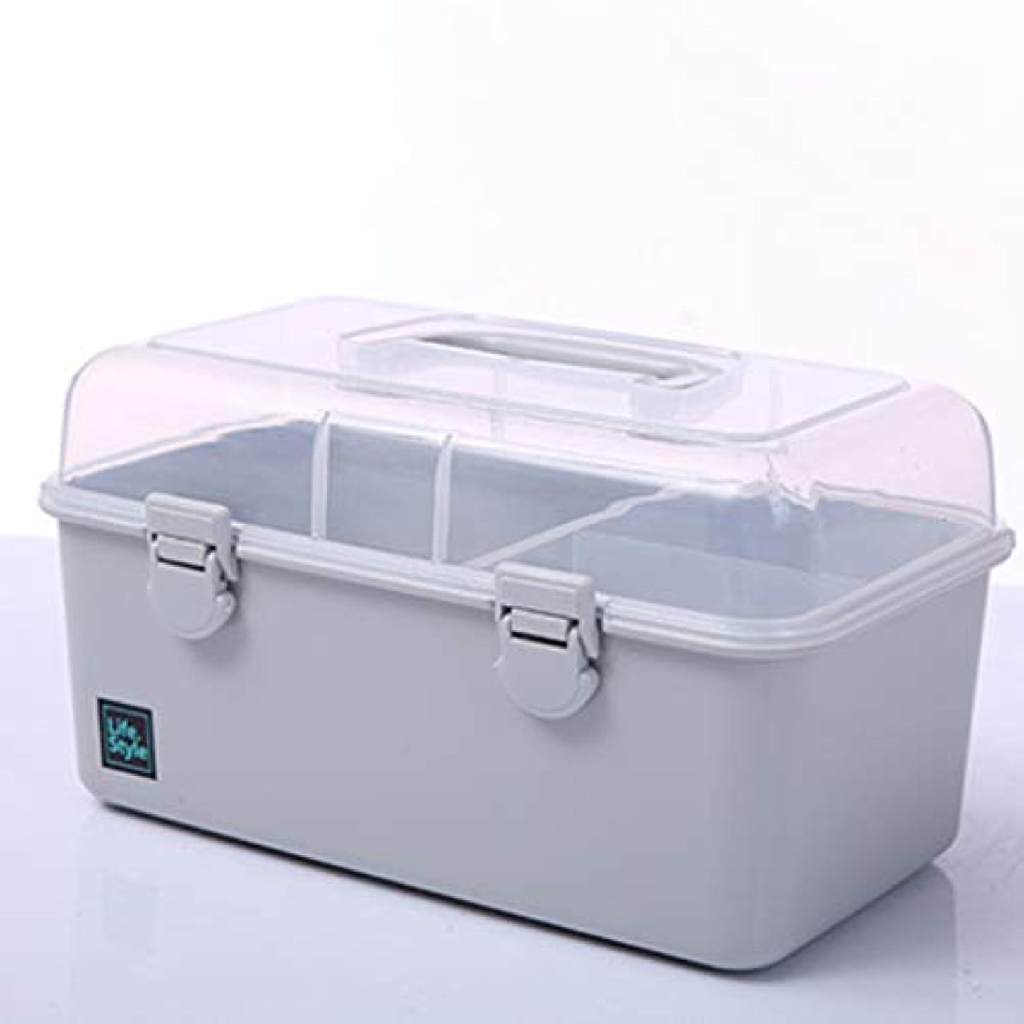 ペルセウス残り物白雪姫赤ちゃん薬箱薬収納ボックス多層ホーム応急処置キット5色がご利用いただけます LXMSP (Color : Gray)