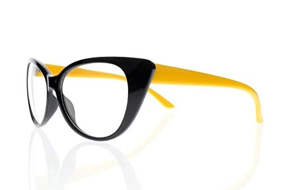 酒外側雄弁家FidgetGear 新しい近視レトロビンテージ猫目亀9色光学眼鏡アイウェア 黄