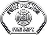 消防士Fireヘルメットフロント面Fire Policeホワイトデカール反射