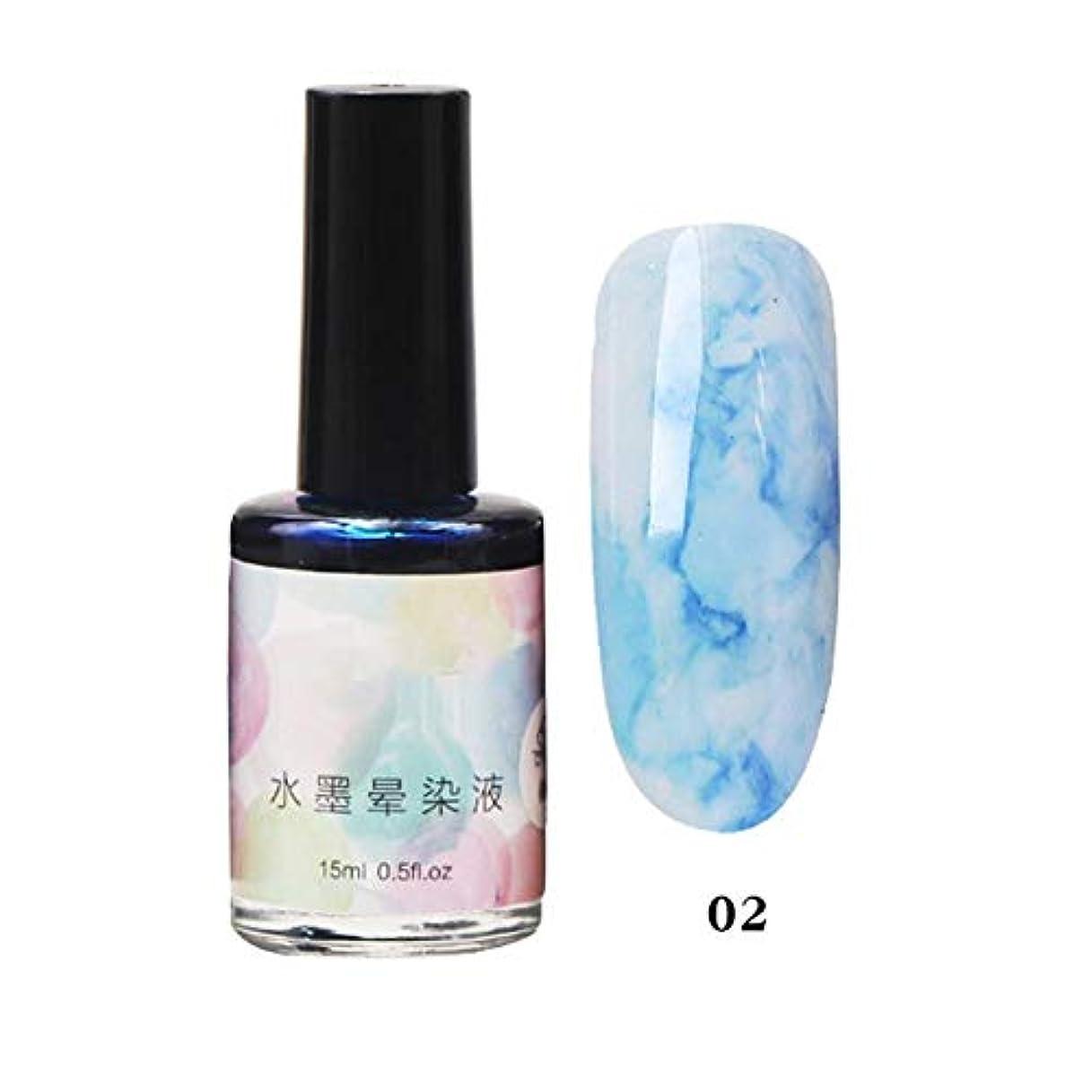 アライアンス協力する芸術的11色選べる ネイルポリッシュ マニキュア ネイルアート 美しい 水墨柄 ネイルカラー 液体 爪に塗って乾かす 初心者でも簡単に使用できる junexi