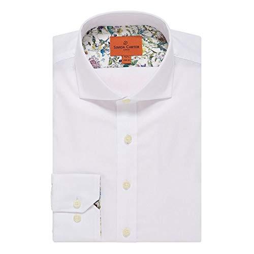 (サイモン カーター) Simon Carter メンズ トップス シャツ White Oxford Plain Shirt [並行輸入品]