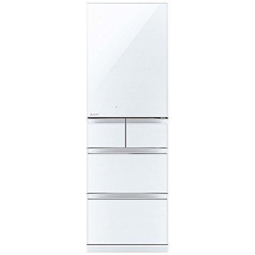 三菱 冷蔵庫 スマート大容量 右開き 455L クリスタルピュ...