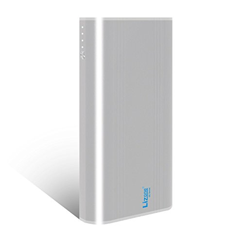 Lizone® 35000mAh超大容量モバイルバッテリー、ポータブルパワーパック、QC急速テクノロジー、5USBポートアルミボデイ、5V/9V/12V/15V多電圧ポート、QC安全認証された。iPad 、iPhone と他のusb設備:iPad MiniやiPad AirやiPad やiPhone Samsung Galaxy など対応 (35000mAh-Sliver)