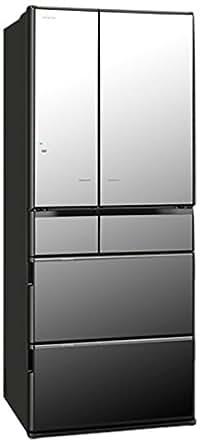 日立 620L 6ドア冷蔵庫(クリスタルミラー)HITACHI 真空チルド R-X6200E-X