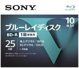ソニー SONY 25GB 4倍速10枚 10BNR1VLPS4 BD-R BDR