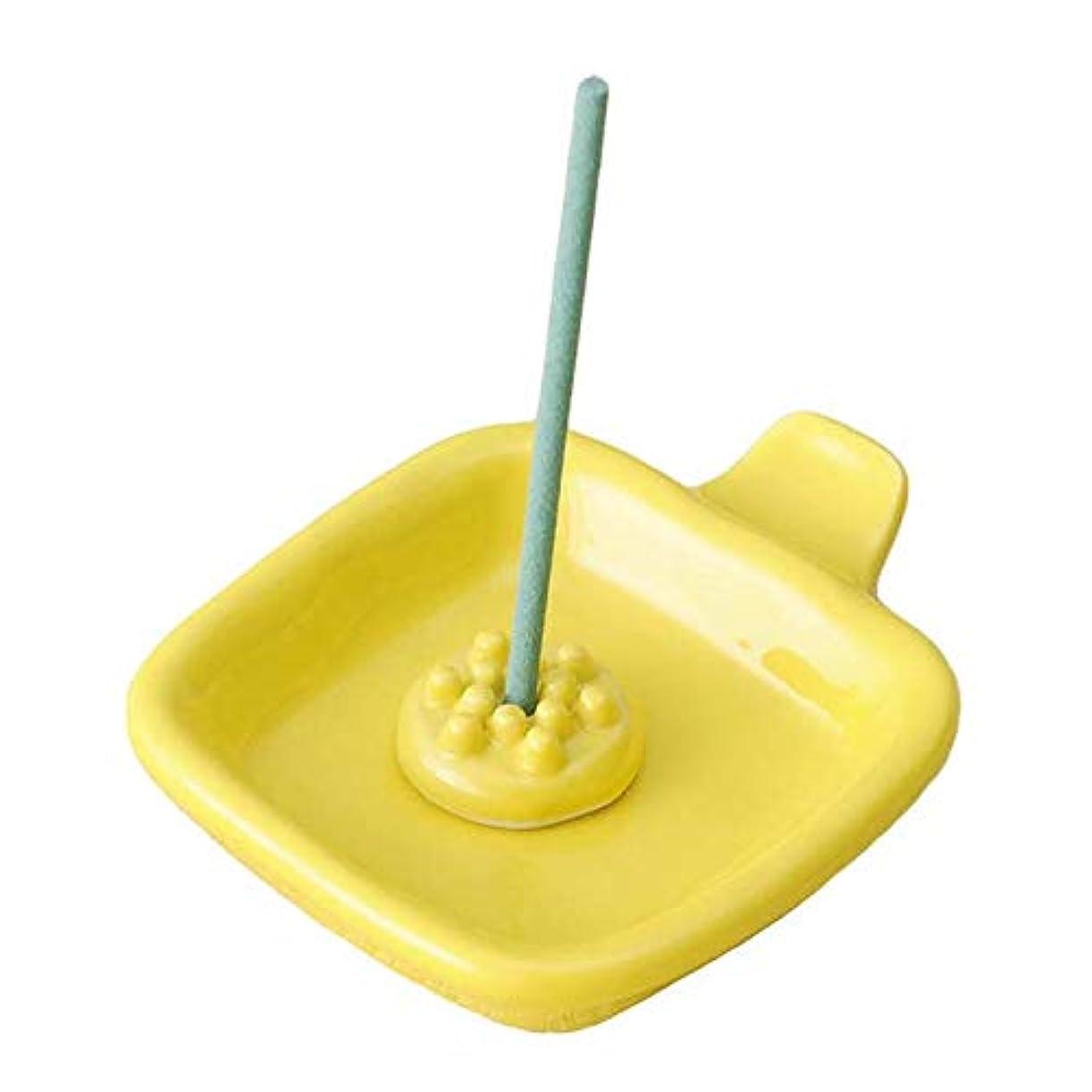 単位チャーターフラフープ香皿 香立て/手付 角香皿 黄(香玉付) /香り アロマ 癒やし リラックス インテリア プレゼント 贈り物