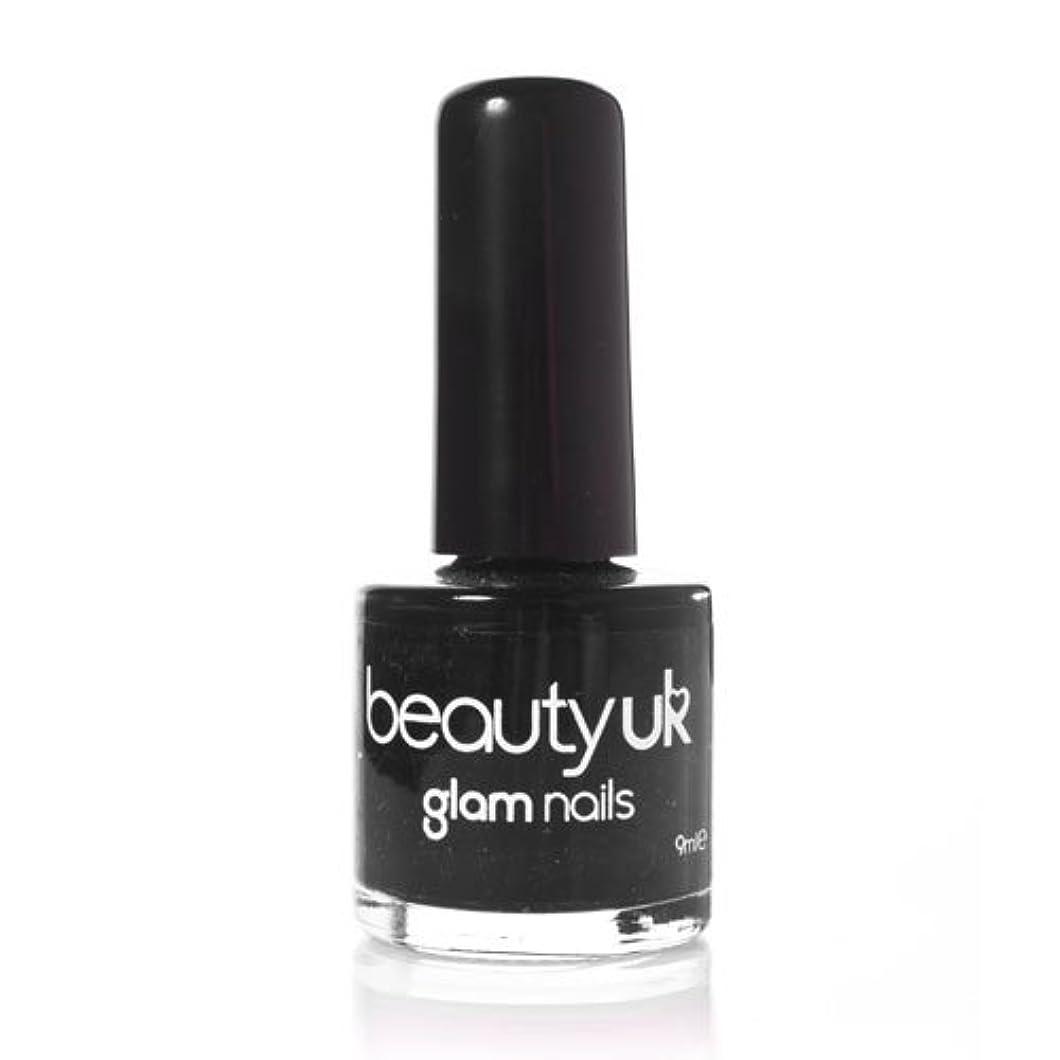 実用的誘導弱点Beauty Uk Glam Nails No6 Black 9ml [並行輸入品]
