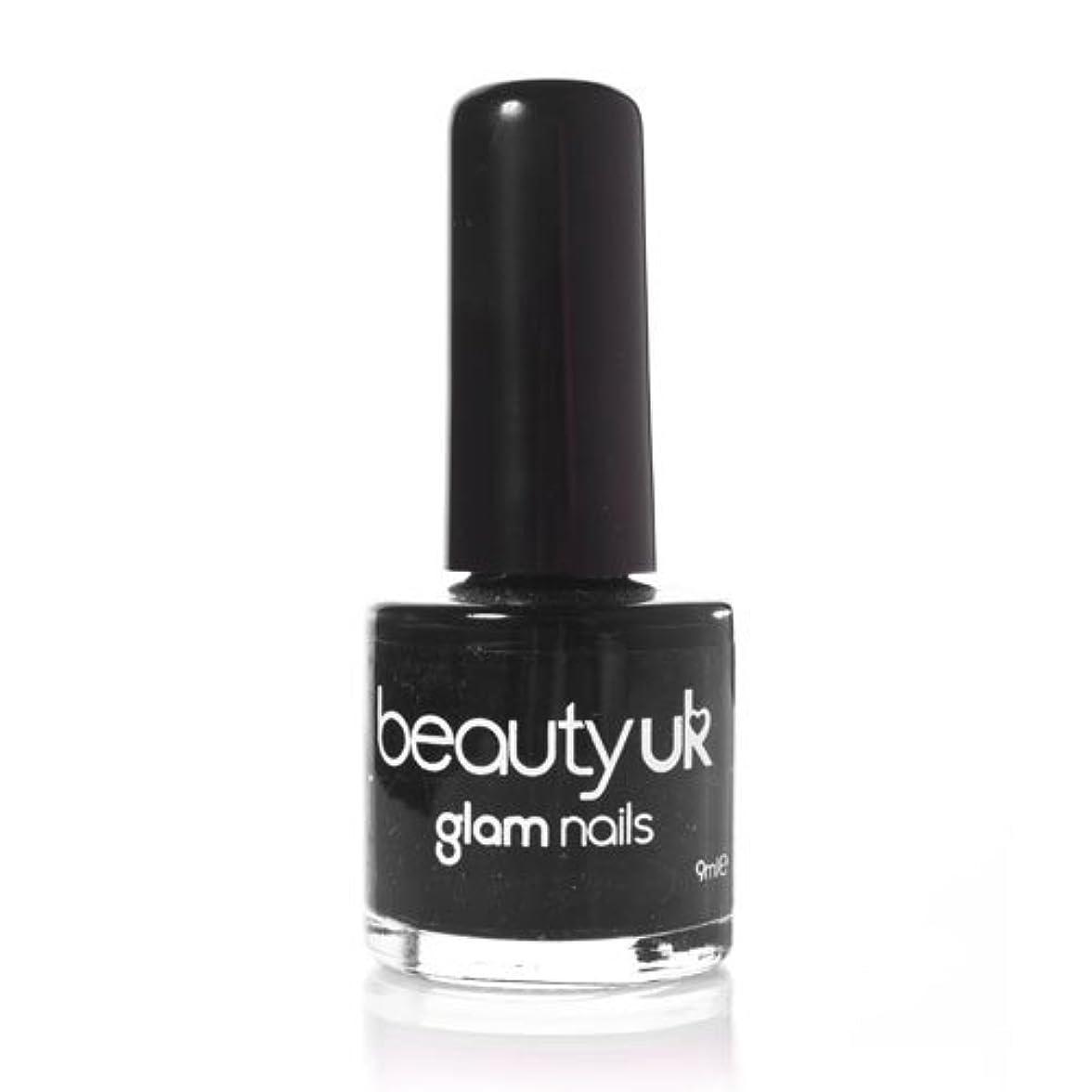 有罪繁殖乱闘Beauty Uk Glam Nails No6 Black 9ml [並行輸入品]