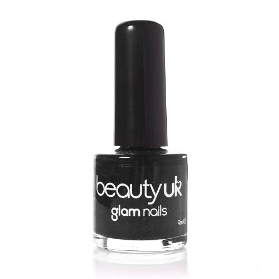 クラス裁判所巨大Beauty Uk Glam Nails No6 Black 9ml [並行輸入品]