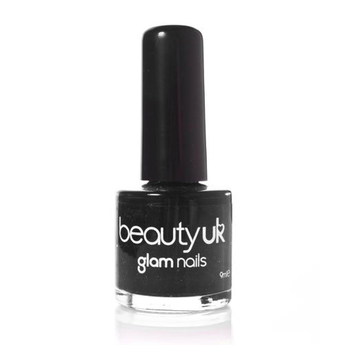 過激派広範囲にベーリング海峡Beauty Uk Glam Nails No6 Black 9ml [並行輸入品]