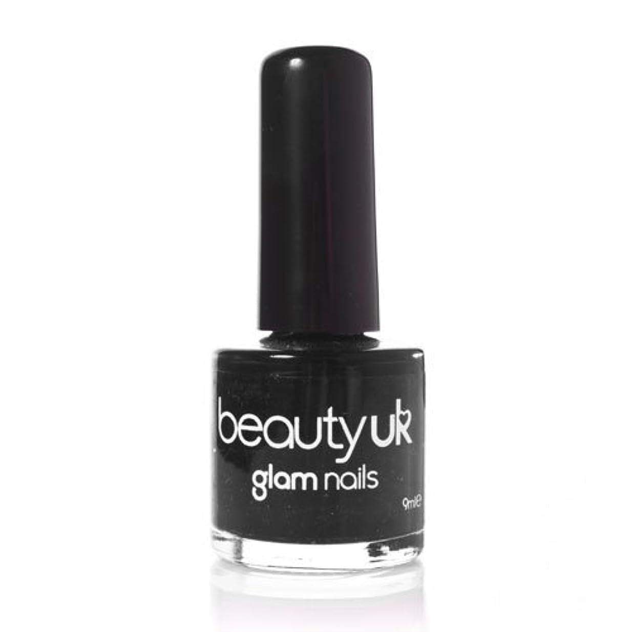オフセットウガンダ散歩Beauty Uk Glam Nails No6 Black 9ml [並行輸入品]