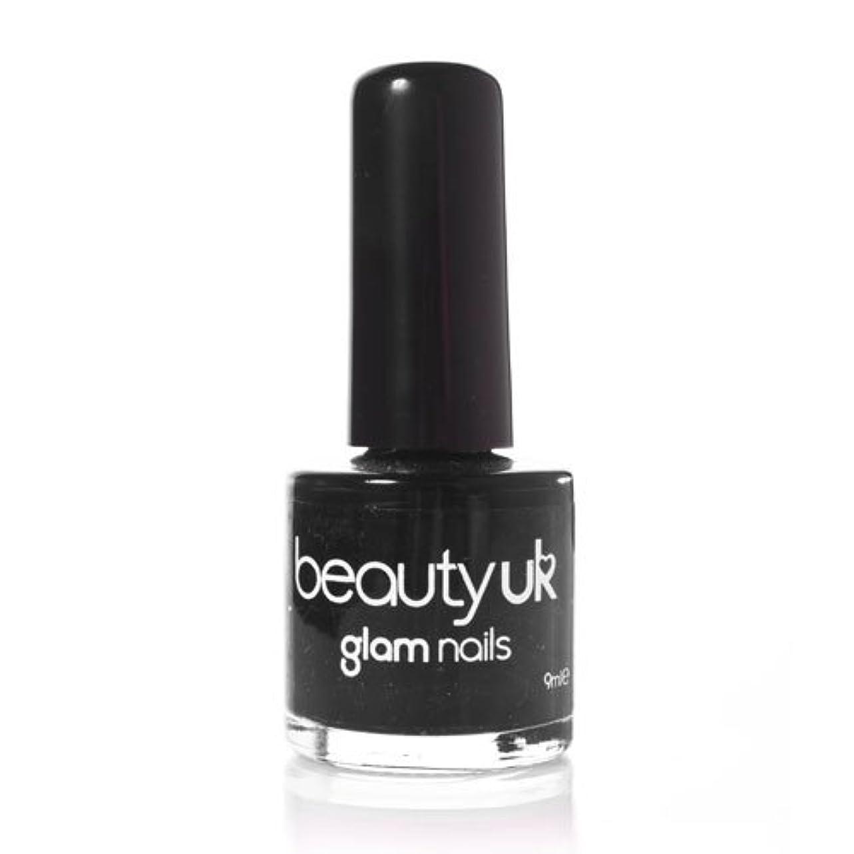 ジョグバイソン減衰Beauty Uk Glam Nails No6 Black 9ml [並行輸入品]