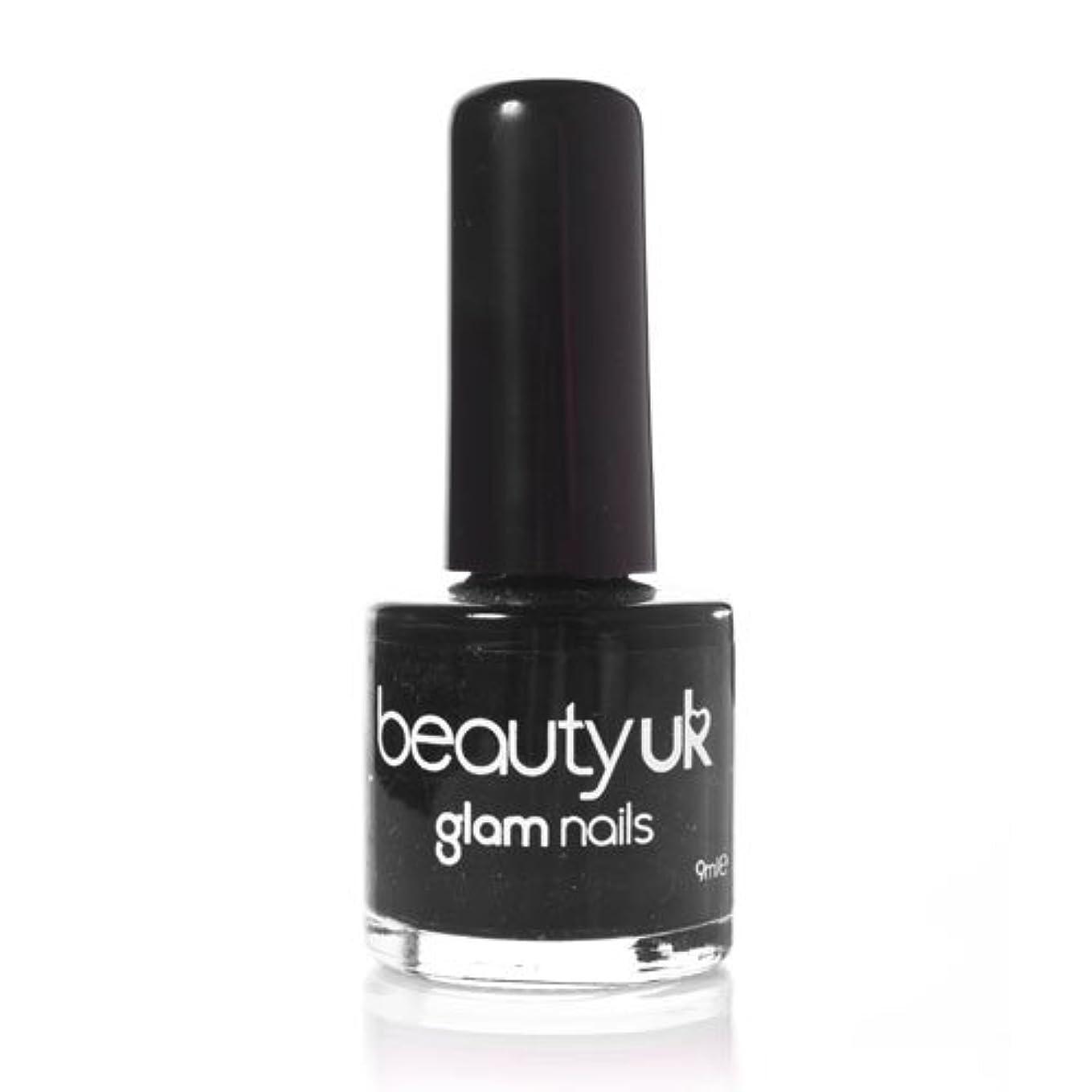 グリル最大慈悲深いBeauty Uk Glam Nails No6 Black 9ml [並行輸入品]