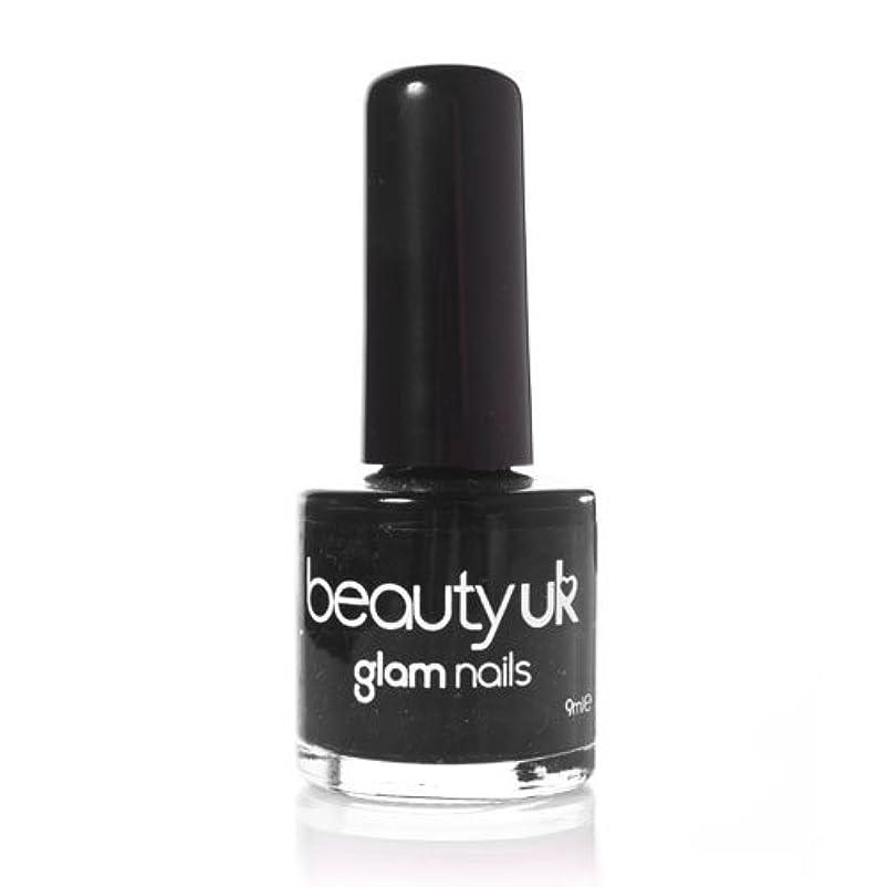 見物人代わりに紛争Beauty Uk Glam Nails No6 Black 9ml [並行輸入品]