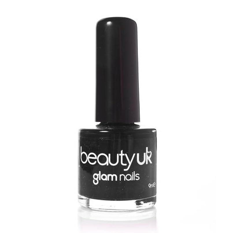 混乱した盆地誘導Beauty Uk Glam Nails No6 Black 9ml [並行輸入品]