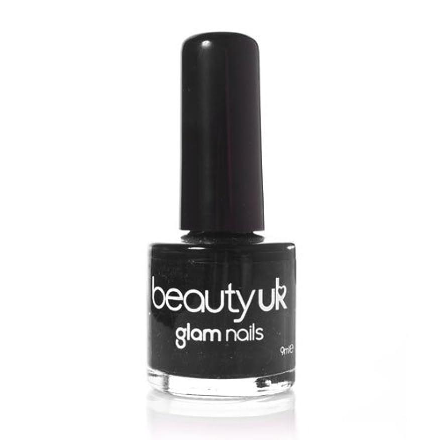明るくする害虫伝染病Beauty Uk Glam Nails No6 Black 9ml [並行輸入品]