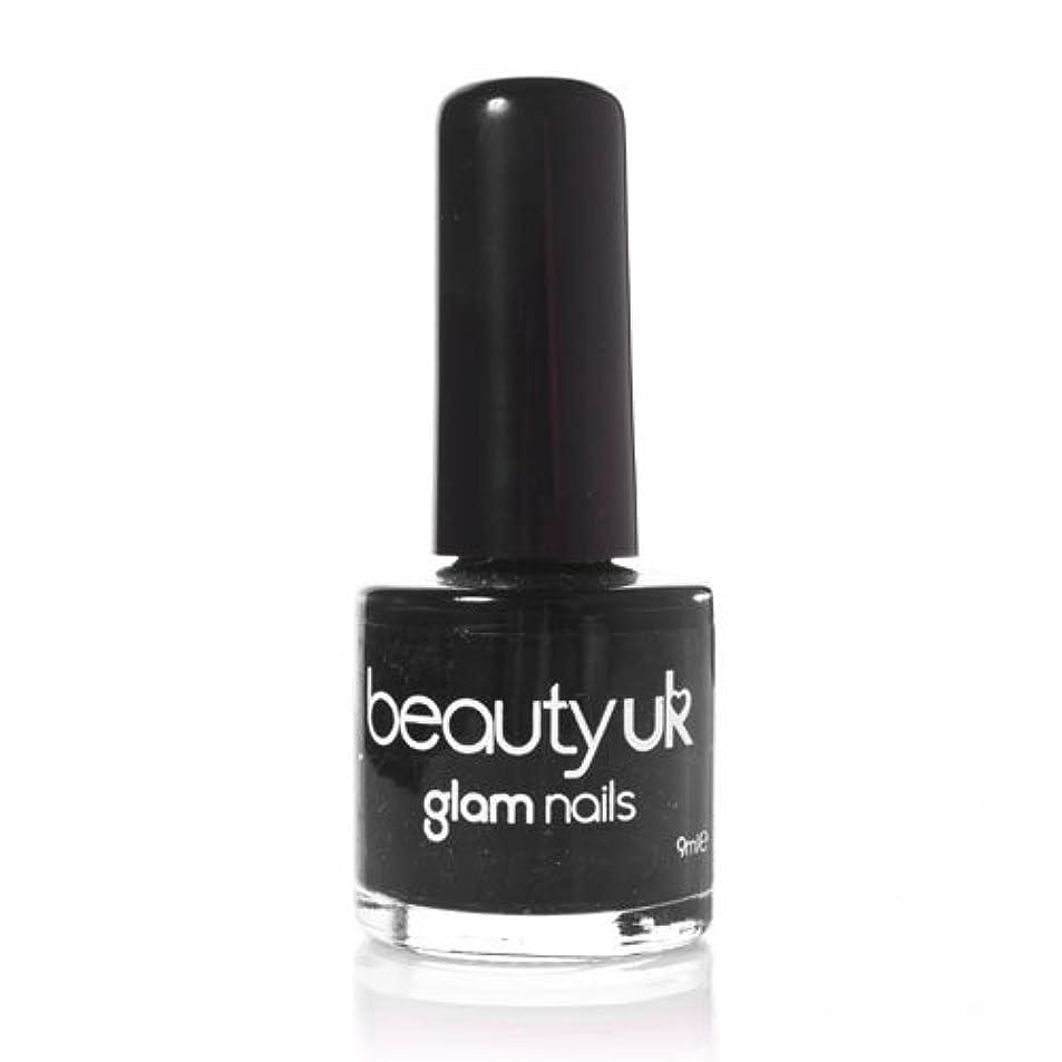 検証プロトタイプオリエントBeauty Uk Glam Nails No6 Black 9ml [並行輸入品]