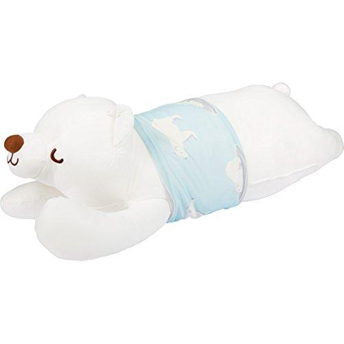 接触冷感 アニマル抱き枕 しろくま 約60cm