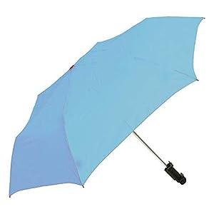 ウォーターフロント 折りたたみ傘 日傘/晴雨兼用 サックス 50cm 撮れる傘 UVカット90% TRIB350UH-RB