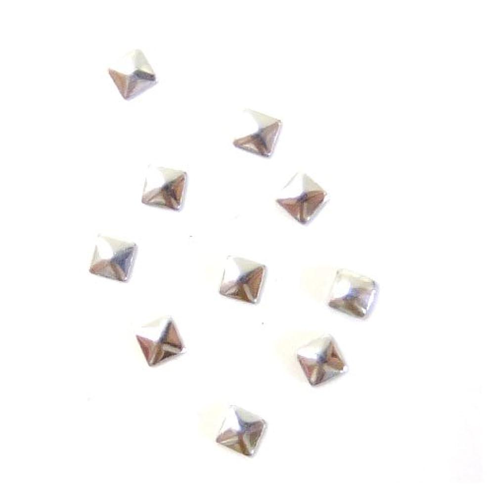 石鹸鯨レーザミスティックフレース ネイル用ストーン メタルスタッズ スクエア 2mm シルバー 50P