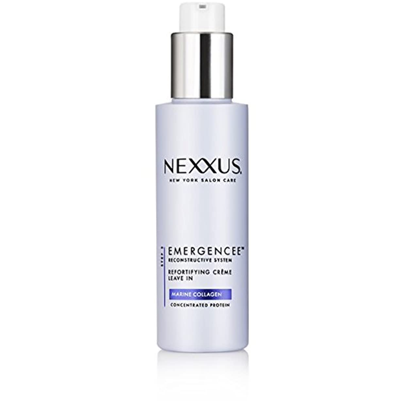 残る風が強い利点Nexxus Emergenceeはダメージを受けた髪のためにクリーム状にしておきます、150 ml