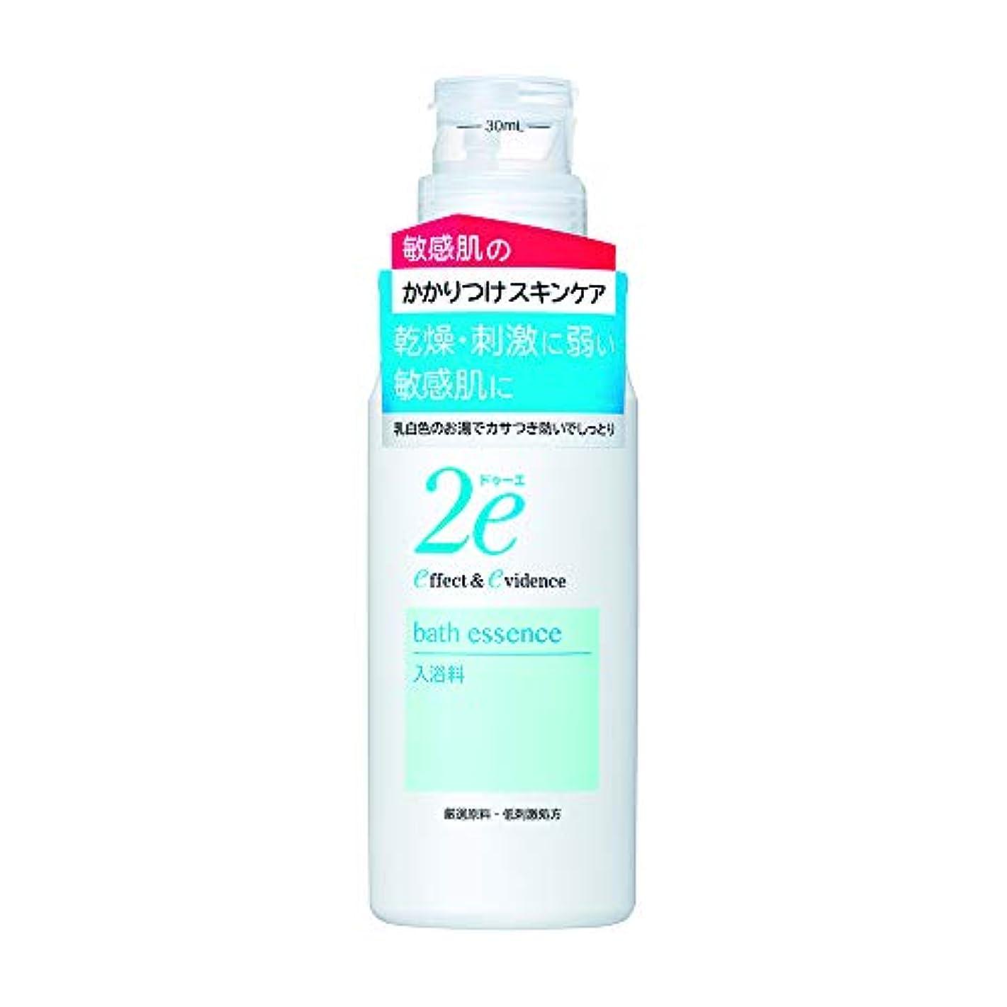 吹雪倍率いらいらする2e(ドゥーエ) 入浴料 敏感肌用 低刺激処方 乳白色 420ml 入浴剤