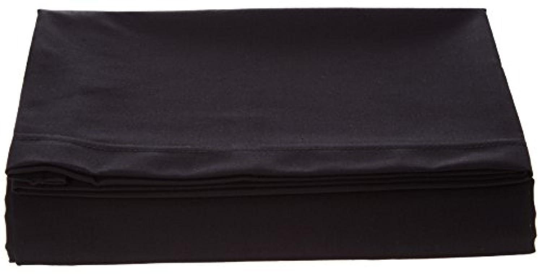 SheetWorld FLAT Crib / Toddler Sheet - Solid Black Woven - Made In USA by sheetworld