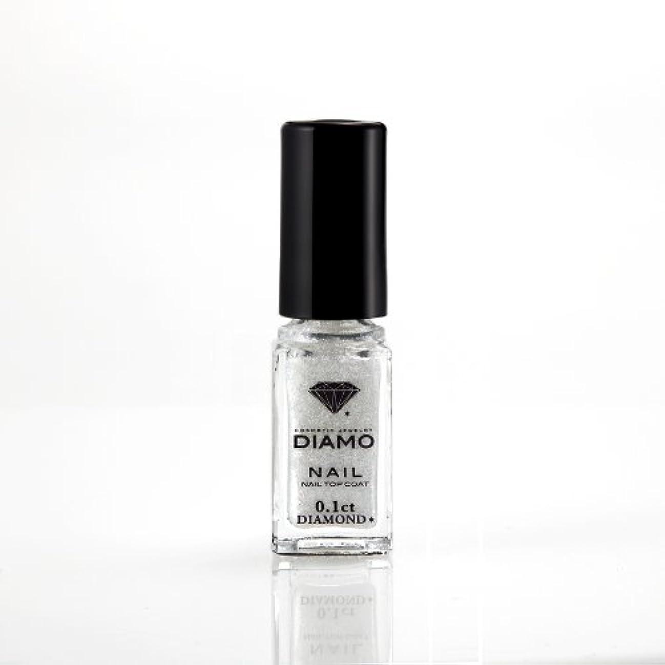 三角形謙虚間接的DIAMO NAIL TOP COAT ディアモ ネイル トップコート0.1ct 天然ダイヤモンド粉末入り5ml