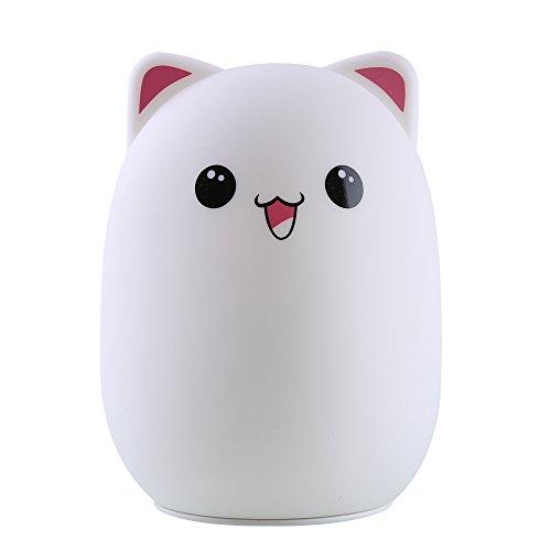 Easehold ベッドランプ 子供夜ランプ 萌えクマちゃん LEDライト 常夜灯 可愛いBear USB充電式 コンパクト 1000mA(ピンク)