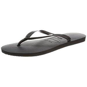 [ハワイアナス] ビーチサンダル SLIM LOGO POP-UP スリムロゴポップアップ 411978740583536 Black/Black/White ブラック/ブラック/ホワイト others 35/36(23~23.5cm)(23.0~23.5cm)