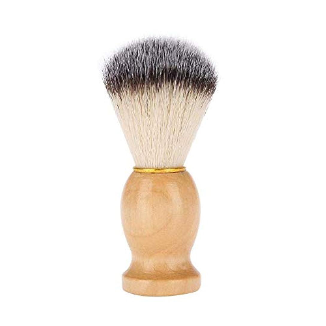 バナー作成する最愛の毛髭ブラシと木製コ バガーヘア げブラシメンズシェービングブラシ シェービングブラシ