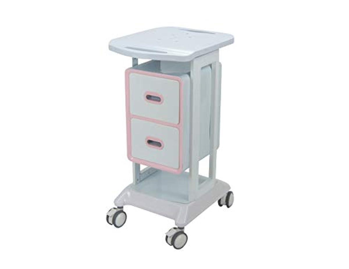 抵抗力がある望み救急車大広間の家具2つの引出し2色の選択が付いている縦の鉱泉のトロリー圧延のカート Elitzia ET421 (ピンク)