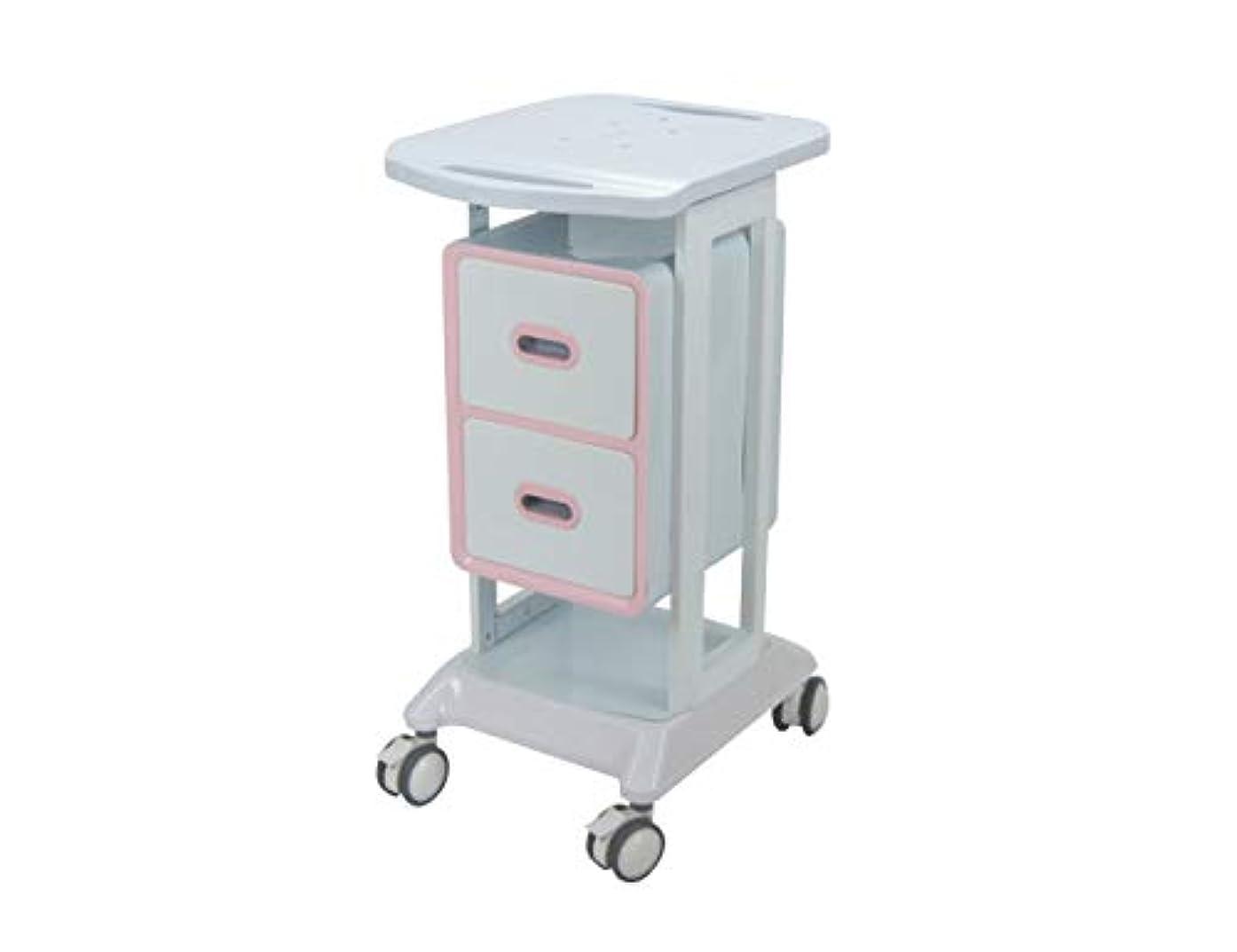 励起罹患率不定大広間の家具2つの引出し2色の選択が付いている縦の鉱泉のトロリー圧延のカート Elitzia ET421 (ピンク)