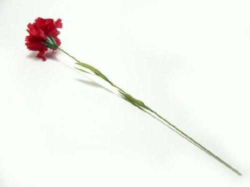 造花◆フラワーカーネーション M (葉付)